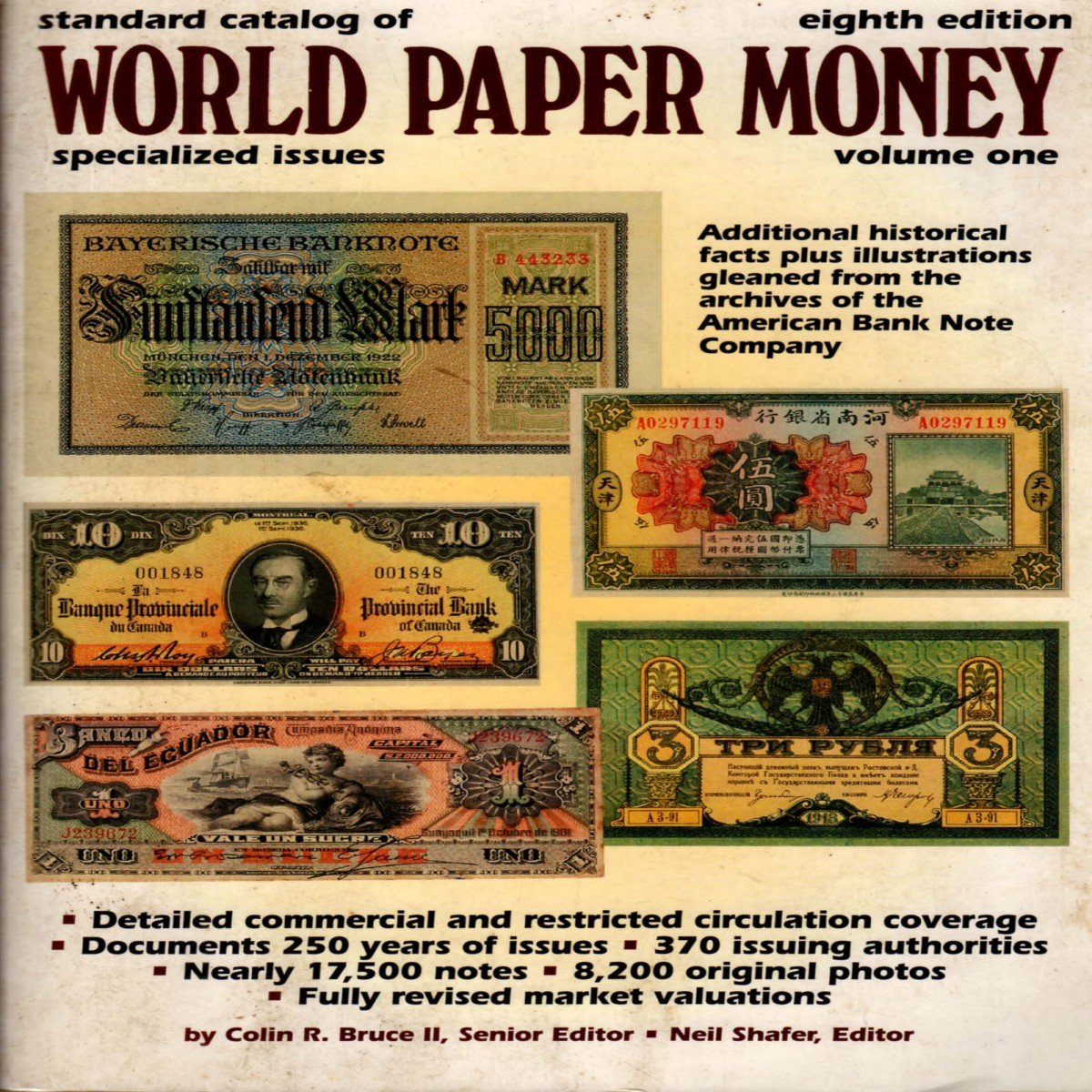 Standard Catalog of World Paper Money, Specialised Issues, Volume one, Eighth Edition