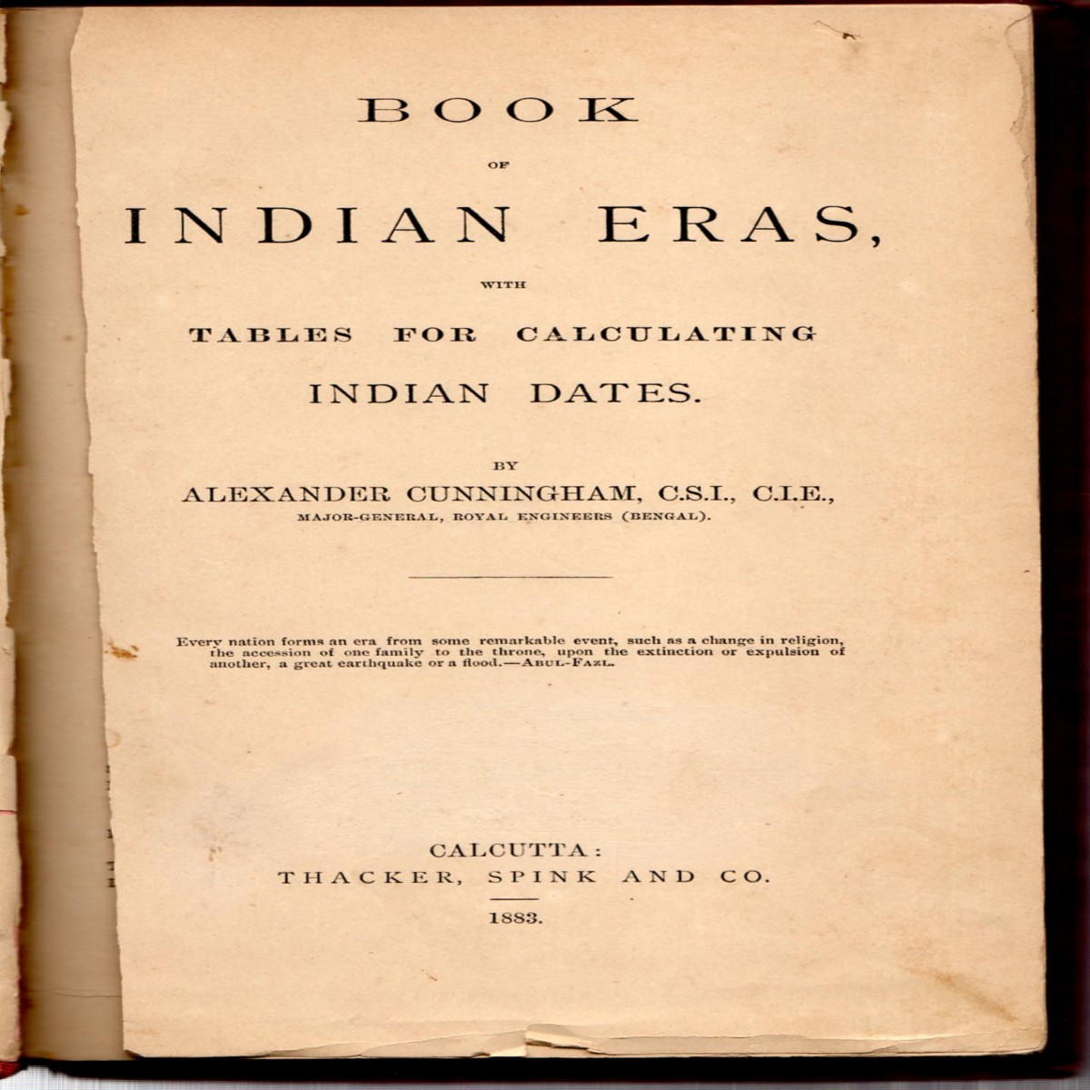 Book of Indian Eras, with Tables For Calculating Indian Dates (new binding)